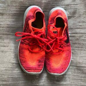 Nike knit pink free run, sneakers
